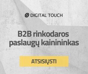 B2B rinkodaros paslaugų kainininkas